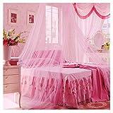 Smart Fun Mosquitera cama, poliéster, 8,5M x 2,5m Protección contra insectos rosa rosa