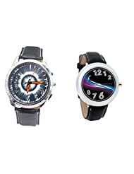 Foster's Men's Grey Dial & Foster's Women's Black Dial Analog Watch Combo_ADCOMB0002317