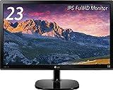 LG ディスプレイ モニター 23インチ/IPS(非光沢)/フルHD/HDMI/ブルーライト低減機能 23MP48HQ-P