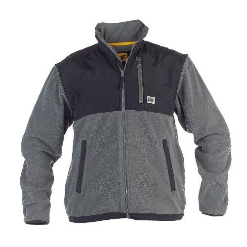 CAT C446 FLEECE JACKET WITH OVERLAY / Mens Jackets (Large) (Grey)