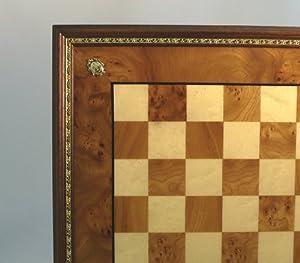 Ital Fama Elm Chess Board Gold Trim