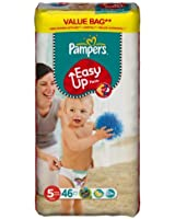 Pampers - Easy Up Couches Culottes - Taille 5 Junior - 12-18 kg - Format Economique x 46 Couches