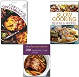 Carolyn Humphries Slow Cooking Recipes Cookbooks Collection Set, (Slow cooking Best New Recipes, 200 More Slow Cooker Recipes: Hamlyn All Colour Cookbook and Slow Cooking Curries and Spicy Dishes)