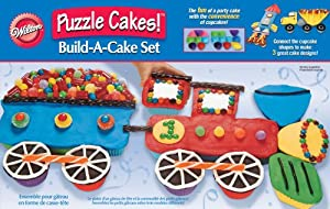 Transportation Puzzle Cakes!TM Build-A-Cake Set