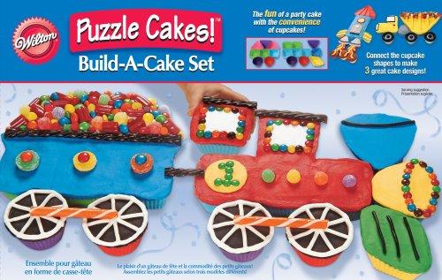 Transportation Puzzle Cakes!Tm Build-A-Cake Set
