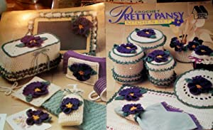 Crochet Pretty Pansey Kitchen Set 8b079 Annie's Attic Pattern