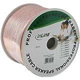 Câble haut-parleurs, InLine®, 2x 2,5mm², CCA, transparent, 50m