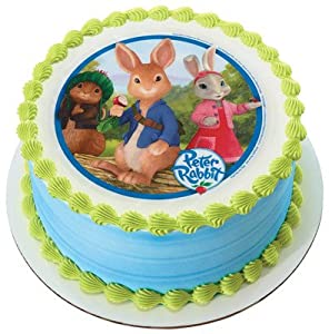 Peter Rabbit Cake Decorations Uk : Peter Rabbit Edible Image Cake Topper: Amazon.co.uk: Grocery