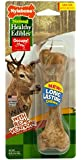 Nylabone 1 Count Healthy Edibles Large Wild Venison Dog Treat Bones