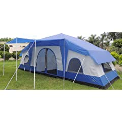 Deluxe Four Room Cabin Tent 24x10 by Pinnacle Tents