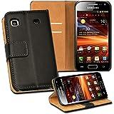 OneFlow PREMIUM - Book-Style Case im Portemonnaie Design mit Stand-Funktion - für Samsung Galaxy S / S Plus (GT-i9000 / GT-i9001) - SCHWARZ