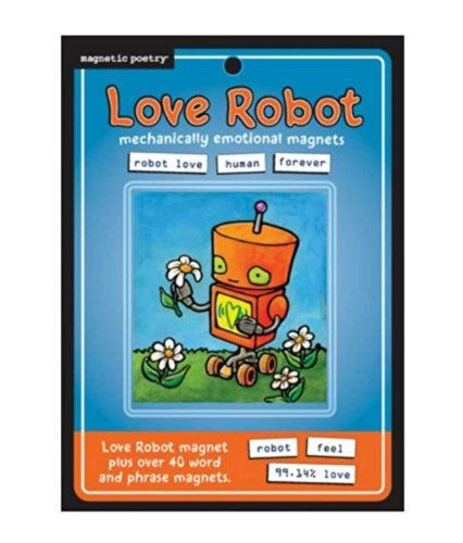 Magnetic Poetry Love Robot Refrigerator Magnets, Flat Pack 3312 - 1