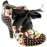 Womens Irregular Choice Abigails Party Floral Mid Heel Ankle Boot