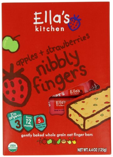 Ella's Kitchen Nibbly Fingers, Strawberries and Apples, 4.4 Ounce (Pack of 8) - 1