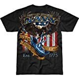 7.62 Design Men's T-Shirt Navy 'Fighting Eagle'