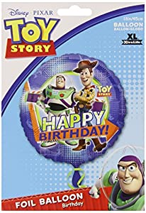TOY STORY WOODY AND BUZZ HAPPY BIRTHDAY BALLOONS 18 inch mylar