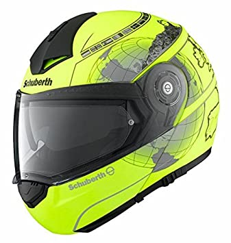 Casque de moto jaune Europe Pro Schuberth C3