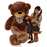 Giant Teddy brand 6 Foot Life Size Mocha Brown Color Big Plush Teddy Bear Sunny Cuddles (Original) (Color: Brown, Tamaño: 6 foot tall,6ft,6 ft,72 in,72in)