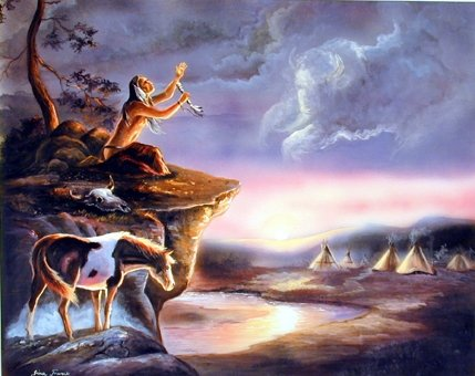 Vision Seeker G Femrite Native American Art Print Poster (16x20)