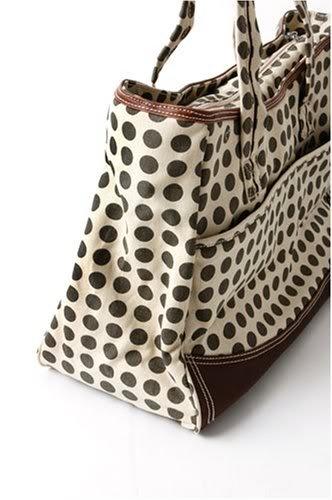 Zippered Top Kalencom Weekender Tote Diaper Bag W/ Mesh Storage Pockets - Heavenly Dots Cafe Aulait Nourrisson, Bébé, Enfant, Petit, Tout-Petits