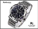 [BURBERRY 腕時計]バーバリー 腕時計 ヘリテージ クロノグラフ【BU1360】ブルー文字盤 メンズ (シルバー) [並行輸入品]