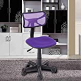 VECELO Modern Task Chair Adjustable Home Desk Chair with Fabric Pads