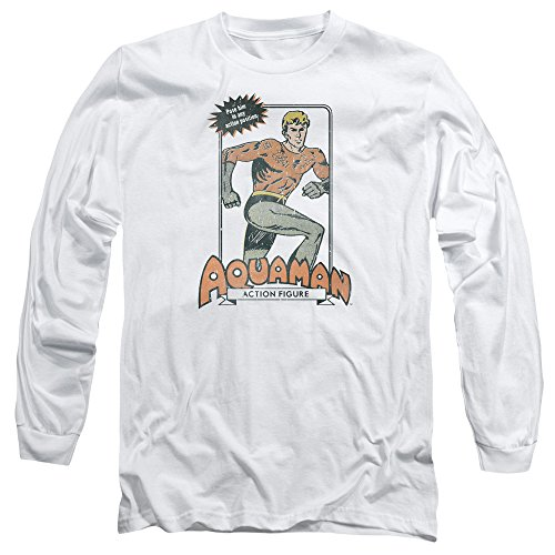 Trevco Dc-Am Action Figure - Long Sleeve Adult 18-1 Tee - White, Extra Large