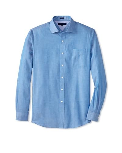 Tommy Hilfiger Men's Slim Fit Spread Collar Pincheck Dress Shirt