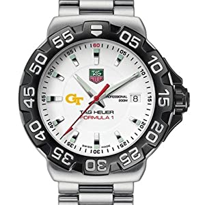 Georgia Tech TAG Heuer Watch - Mens Formula 1 Watch with Bracelet by TAG Heuer