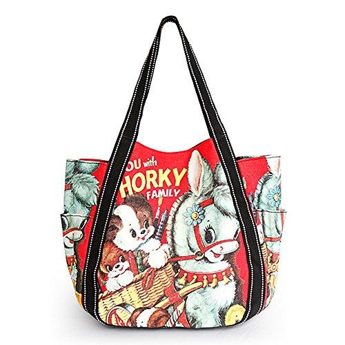 [Horky] Canvas Shoulder Tote Bag front-1007879