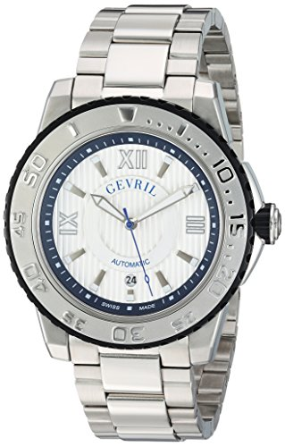 Gevril-Mens-3114B-Seacloud-Analog-Display-Automatic-Self-Wind-Silver-Watch