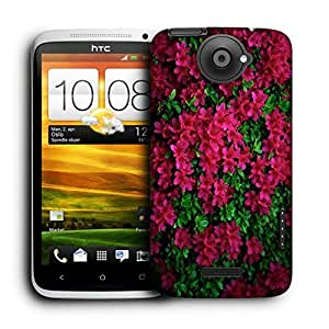 Snoogg Red And Green Leaves Printed Protective Phone Back Case Cover For HTC One X