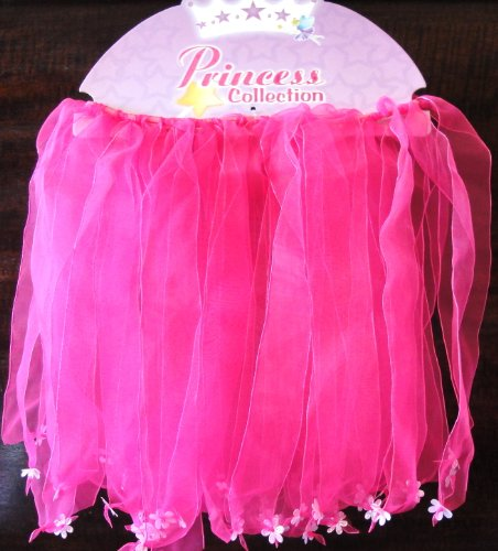 Tanday Fairy Butterfly Tutu Skirt Fuschia with flowers for Baby Toddlers & Girls .