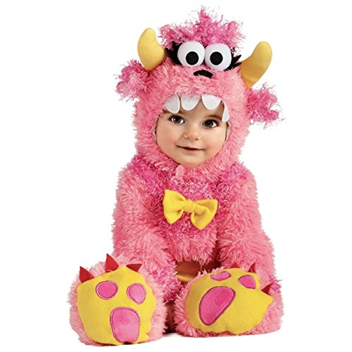 [GSG Baby Monster Costume Fuzzy Furry Pink Halloween Fancy Dress] (Red Furry Monster Costume)