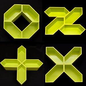 """Juego de 4 estanterías en verde brillante para""""1000 variantes"""""""
