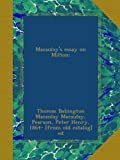img - for Macaulay's essay on Milton; book / textbook / text book
