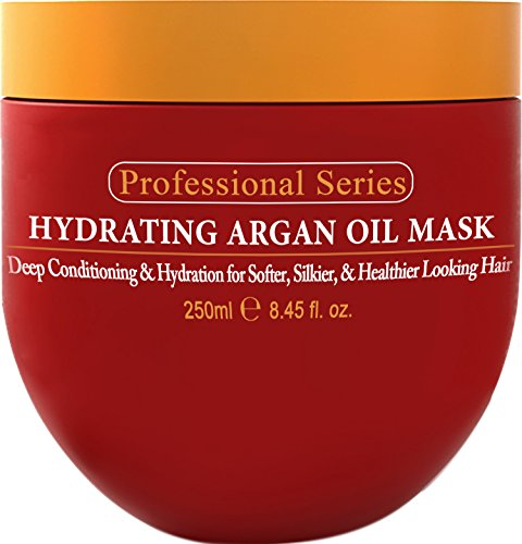 Arvazallia Hydrating Argan Oil Hair Mask and Deep Conditioner for Dry and Damaged Hair, 8.45 oz (Beautiful Curls Deep Conditioner compare prices)