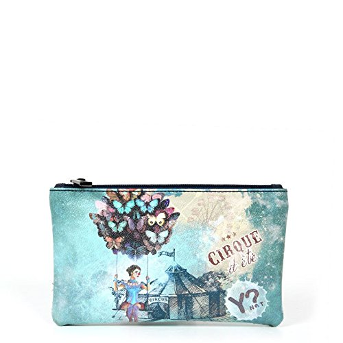 Y NOT? donna beauty case F-341 CIRCO BLU UNICA Stampa-Blu