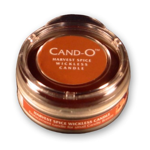 Candle Breeze Small Cand-o Harvest Spice Scented/ Fragrance Wickless, Flameless, Lead free Candle with Lid