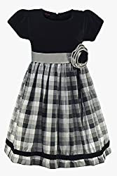 Blach Check Dress( 9-10 Years )