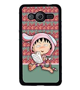 PRINTVISA The Embarasing Girl Premium Metallic Insert Back Case Cover for Samsung Galaxy Core 2 - G355H - D5902