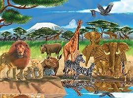 0300 pc On the Savannah Cardboard Jigsaw
