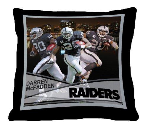 Nfl Biggshots Bedding - Oakland Raiders Darren Mcfadden Toss Pillow, 18-Inch front-472343