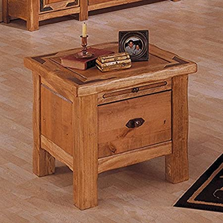 Artisan Home Lodge 100 1 Drawer Square End Table