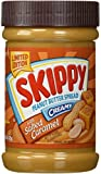 Skippy Creamy Peanut Butter, with Salted Caramel 15oz (Pack of 4)