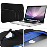 "Gmyle (Tm) Black Neoprene Soft Zipper Case Pouch Sleeve Cover Bag For Apple Macbook Pro Air 13.3"" 13"" (Prefect..."