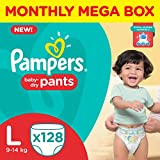 #1: Pampers Large Size Diapers Pants (128 Count)