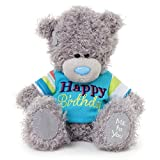 Me to You Tatty Teddy Bear Wearing a Happy Birthday T-Shirt (Grey)