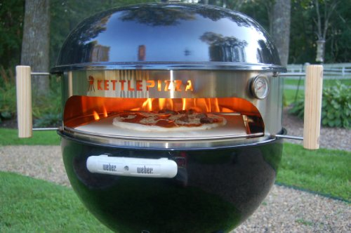 kettlepizza pro 22 kit outdoor pizza oven kit for 225 inch kettle grills includes prograte tombstone