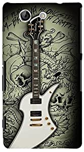 PrintVisa Music Guitar Quotes Case Cover for Sony Xperia Z4 Mini